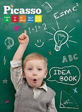 PicassoTiles Children's Design Book w/ 90+ Construction Ideas for Magnetic Tiles