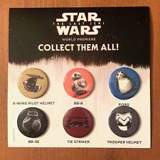 RARE Star Wars The Last Jedi World Premier Pin Set - Give away at the LA premier