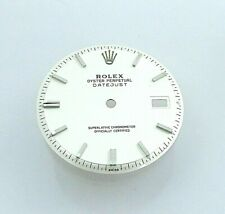 Stainless Factory Rolex Datejust Non Quick White Piepan Watch Dial Part 1601