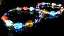 Rainbow Nugget Glass Multi Colour Necklace