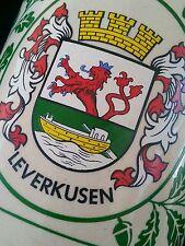 Vintage German stoneware beer stein Leverkusen 0.5 L.