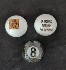 Vintage Golf Balls Lot Of 3 Novelty Fun Golfing Gift