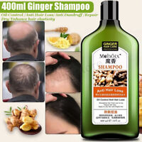 400ml Natural Ginger Shampoo Oil-Control Anti Dandruff Anti Hair Loss Hair Care