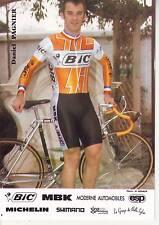 CYCLISME carte cycliste DAVID PAGNIER équipe BIC