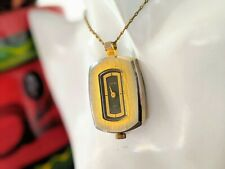 Up Pocket Watch Pendant - Working Ladies Mid Century Modern Octra Wind