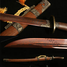 37' FOLDED STEEL BLADE ROSE CHINESE DRAGON PHOENIX SWORD QING DAO