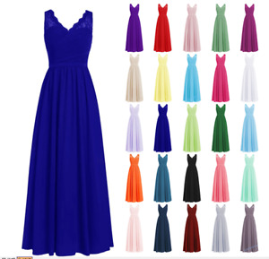 Long New Formal Evening Ball Gown Party Prom Bridesmaid Dress Stock Size 6-26