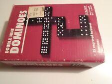 Vintage WOODEN DOMINOES Double Nine Set 55 Pcs Complete. hardwood-fundex