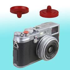 Red Soft Shutter Release Button JJC Brass FUJIFILM X30 Sony RX1R Canon AE-1 F-1