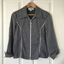 Cotton Blend Striped Casual Coats & Jackets for Women