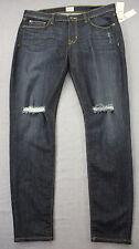 HUDSON Womens Blue Krista Super Skinny Ripped Knees Jeans NWT Sz 32 34 X 30 $189