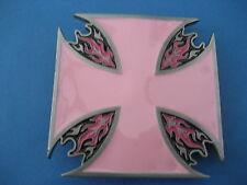 Pink Cross Maltese Style Belt Buckle (Pc79)