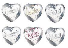 "Creative Party Foil Heart Balloon 18"" Engagement/Anniversary/Wedding/Helium/Love"