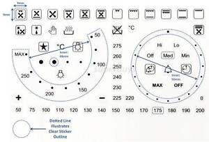 63pc Separate Oven Temp Temperature Symbol Dial Sticker Knob Stove Sticker Label