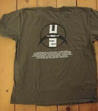 New listing U2 T-Shirt 360 Tour Men's Xxl