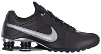 Men's NIKE Shox Black Metallic Silver Conundrum SI 407988-001 Leather Sneaker 11