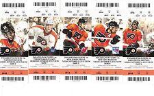 2013-14 PHILADELPHIA FLYERS SEASON TICKET STUB PICK YOUR GAME NHL HOCKEY