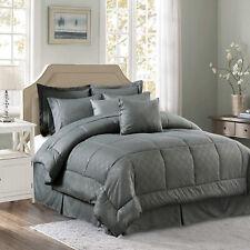 10 Pieces Comforter Set Bed in a Bag All Season Reversible Comforter Set