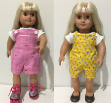 """2 Pce Overall Set- Doll Clothes - Fits 18"""" Our Generation & American Girl Dolls"""