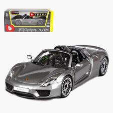 Bburago 1:24 Porsche 918 Spyder Concept Diecast Model Roadster Car Gray