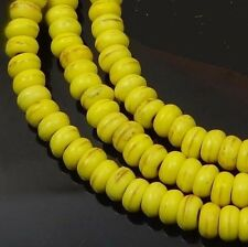 """4x2mm Turquoise Rondelle Beads 16""""  - Yellow"""