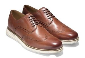 NEW Cole Haan Original Grand Leather Wing Tip Shoes Woodbury/Ivory 12 M