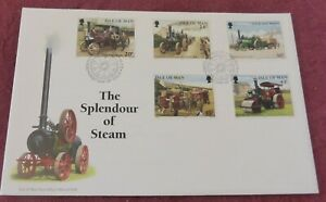 ISLE OF MAN 1995 SPENDOUR OF STEAM FIRST DAY COVER