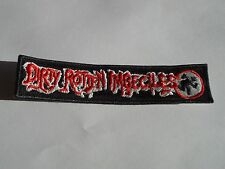DIRTY ROTTEN IMBECILES D.R.I. EMBROIDERED OLD LOGO PATCH