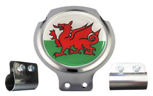 Scooter Bar Badge - Welsh Dragon - FREE BRACKET & FIXINGS
