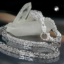 925 Sterlingsilber Kette ca.5mm Königskette vierkant glänzend Silberkette 55cm