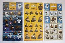 3X RARE WALL E EVE MO M O STICKER SHEETS 64 STICKERS DISNEY PIXAR BRAND NEW !