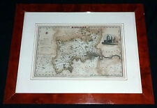 1835 BRITISH MAP of MIDDLESEX - PUBLISHED by PIGOT & Co. LONDON