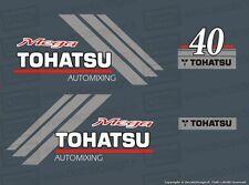 Adesivi motore marino fuoribordo Tohatsu 40 cv Mega gommone barca stickers
