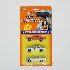 1997 ERTL The Dukes Of Hazzard General Lee Rosco Boss 3-Car ActionChase Set