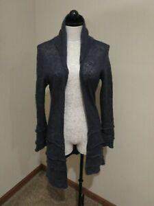 Covelo Clothing long cardigan sweater layered ruffle size Large