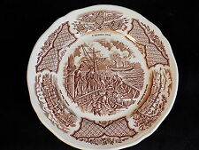 """Alfred Meakin Staffordshire England Fair Winds 7"""" Salad Plate Uss Constitution"""