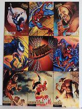 FLEER ULTRA SPIDER-MAN OVERSIZED 8-CARD PROMO SHEET-1994-VENOM-BLACK CAT-HOBGOBL