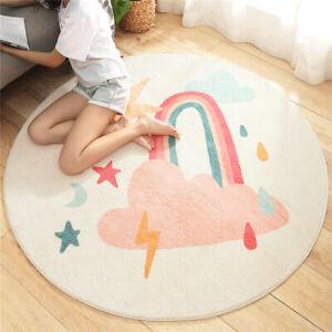 Cartoon Round Lamb Cashmere Home Non-Slip Carpet Sofa Bedroom Tatami Bedside Rug