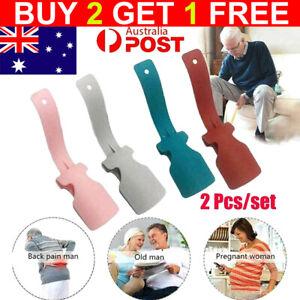 1Pair Lazy Shoe Helper Unisex Handled Shoe Horn Easy on & Off Shoe Lifting