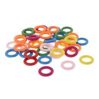 40pcs Multicolor Holzring Holzringe Bastelholz Holz Stück Schmuck Ring