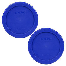 """Pyrex 4"""" Cobalt Blue Lid Replacement Storage Cover 2 Pack For 1 Cup Bowl 7202-PC"""