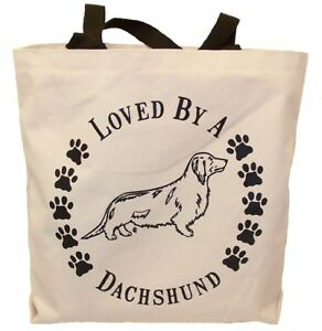 Dachshund Long Haired Tote Bags New  MADE IN USA Lot of 10