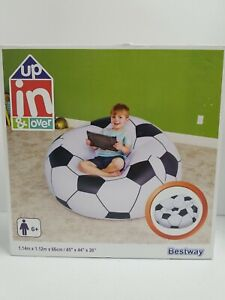 """NEW Bestway Up In & Over Beanless Soccer Ball Inflatable Chair 45""""x44""""x26"""""""