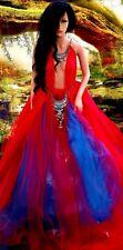 """""""RAVEN"""" Indian Tribal Jeweled Boho Lehenga Bridal Wedding Ballgown Set"""