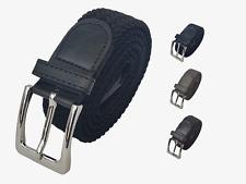 Cinturón elastico extensible trenzado de lona hombre unisex