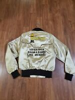 Vintage 1980's Houston Livestock Show And Rodeo Life Member Zip Up Jacket Rare