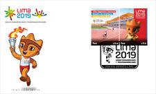 PERU FDC 2018 , PANAMERICAN GAMES , LIMA 2019