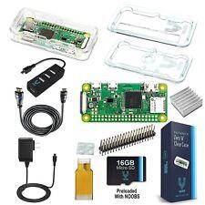 Vilros Raspberry Pi Zero W Complete Starter Kit-Premium Clear Case Edition