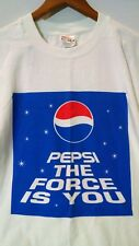 Pepsi Shirt XL The Force is You Star Wars Parody White cola soft drink promo