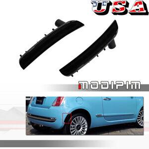 Black Lens Rear Side Marker Light Housings Cover For 2012-17 Fiat 500 Pop Lounge